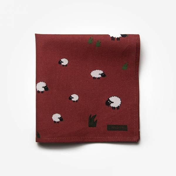 Poszetka CRACOW / KRAKÓW Marthu Ozdobna chusteczka do marynarki Poszetka bawełniana w kasety. Poszetka czerwona do garnituru.
