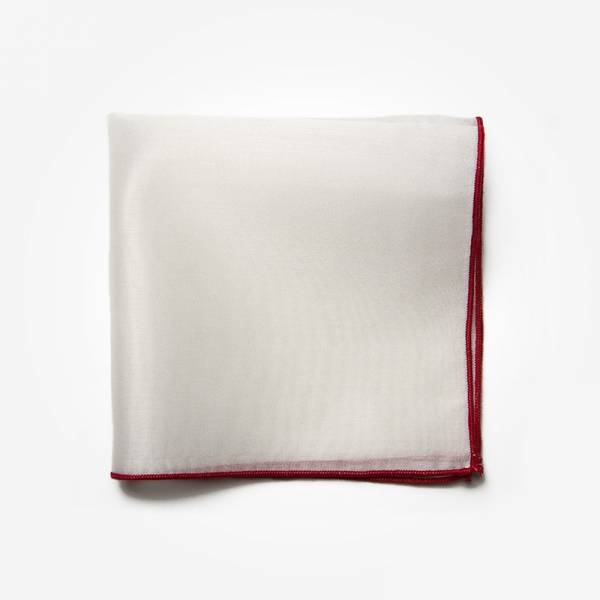 Poszetka CLASSIC RED Marthu Ozdobna chusteczka do marynarki Poszetka bawełniana jednolita. Poszetka biała do garnituru.