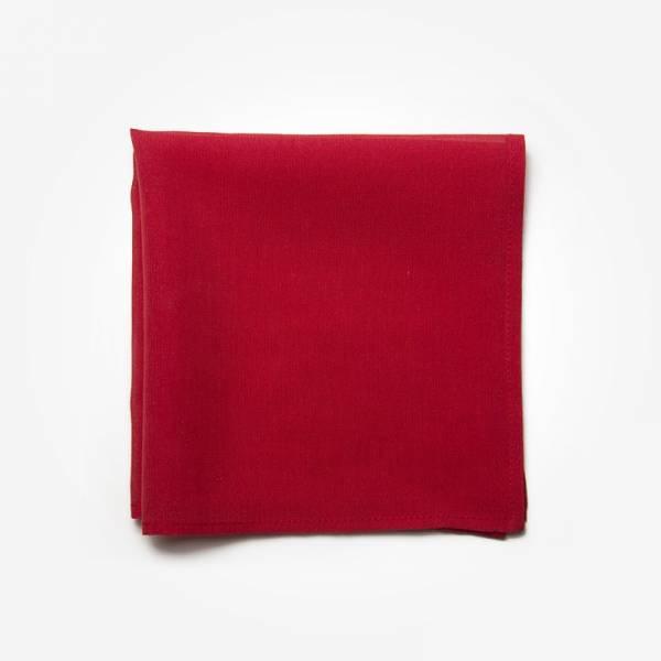 Poszetka RED Marthu Ozdobna chusteczka do marynarki Poszetka bawełniana jednolita. Poszetka czerwona do garnituru.