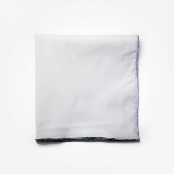 Poszetka CLASSIC VIOLET Marthu Ozdobna chusteczka do marynarki Poszetka bawełniana jednolita. Poszetka biała do garnituru.