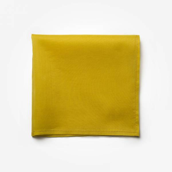 Poszetka SUNFLOWER Marthu Ozdobna chusteczka do marynarki Poszetka bawełniana jednolita. Poszetka żółta do garnituru.