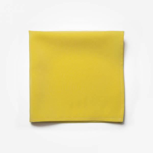 Poszetka SUNNY DAY Marthu Ozdobna chusteczka do marynarki Poszetka bawełniana jednolita. Poszetka żółta do garnituru.